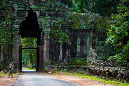 Kampuchea Siem Reap city gate of Angkor