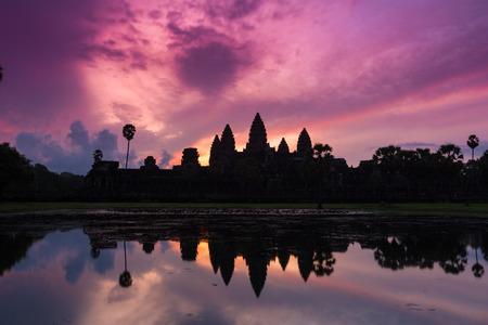 gules: Kampuchea Siem Reap Angkor Wat sunrise scenery Stock Photo