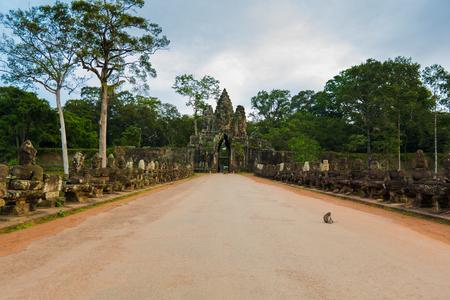 Kampuchea Siem Reap ancient city gate of Angkor Stock Photo