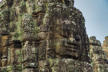 Kampuchea Angkor Bayon Erawan close-up
