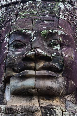 Kampuchea Siem Reap Angkor Erawan close-up Stock Photo