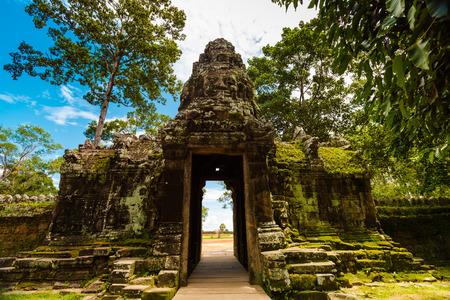 Kampuchea Siem Reap Angkor, banteay Gedi Temple scenery