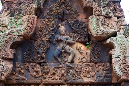 siem: Kampuchea Siem Reap carved wall art close-up