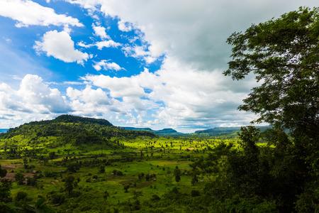 Kampuchea Siem Reap litchi mountain scenery Stock Photo