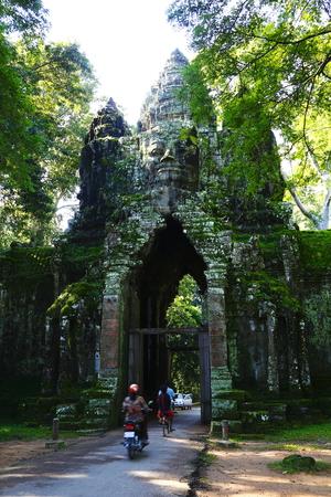 Kampuchea Siem Reap ancient city gate of Angkor Wat Stock Photo