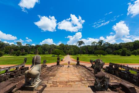 taiwan scenery: Kampuchea Siem Reap Angkor elephants Taiwan scenery Editorial