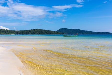 Kampuchea Sihanouk Salem high Dragon Island beach scenery Stock Photo