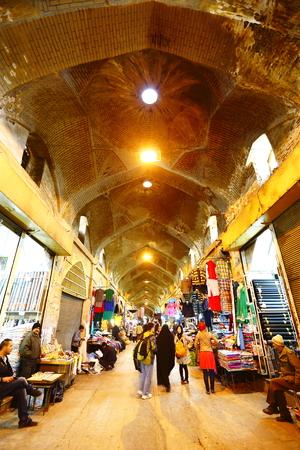 bazaar: Iran Shiraz bazaar scenery Editorial