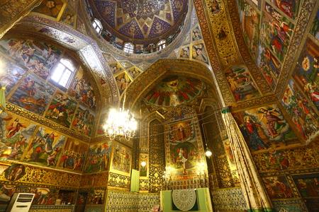 Iran Isfahan Vank Cathedral murals Editorial