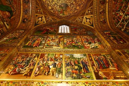 isfahan: Iran Isfahan Vank Cathedral murals Editorial