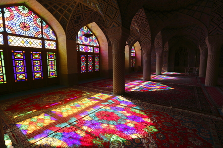 retained: Pink Shiraz Mosque in Iran Editorial