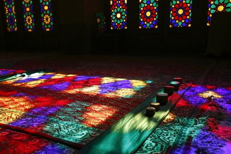 retained: Irán mezquita de color rosa Editorial