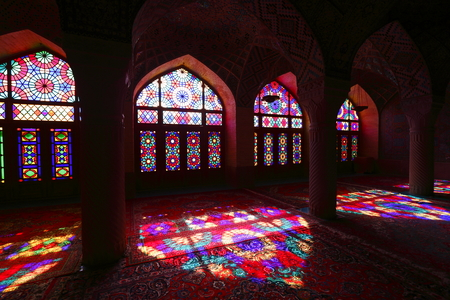 retained: pink Shiraz Mosque