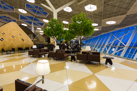 lattice window: Azerbaijan capital Baku Lounge