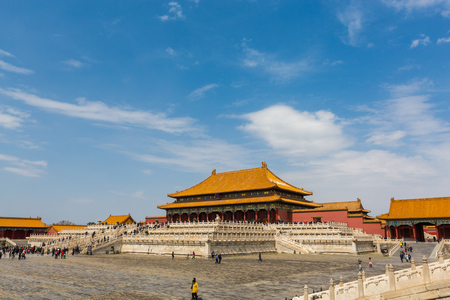China Beijing the Imperial Palace Temple scenery Editorial
