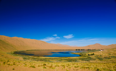 Binnen-Mongolië China Badan Jilin woestijnlandschap Stockfoto