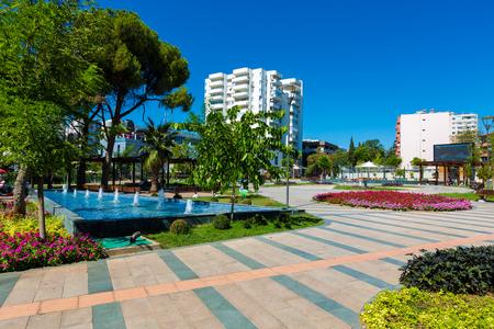 Antalya city garden, Turkey Stock Photo