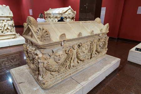 터키 안탈 야 박물관 sarcophagus 근접