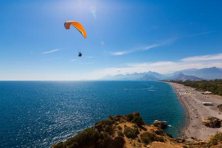 De mening van het landschapslandschap van kust in Antalya, Turkije Stockfoto