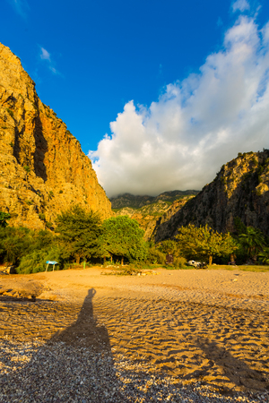 Nature scenery of Butterfly valley at Fethiye Lycian, Turkey