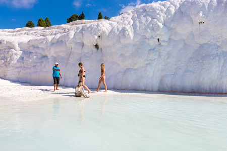 The scenery of Pamukkale in Turkey