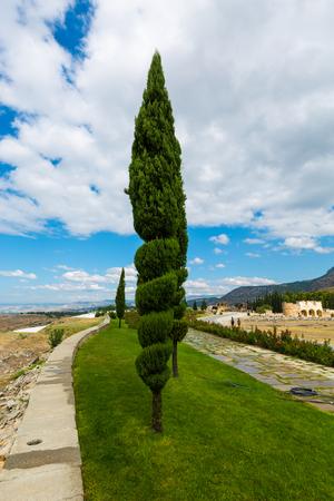 Landscape landscape of Pamukkale in Turkey