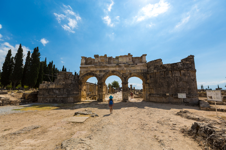 The scenery of Pamukkale of Turkey Boris Sheila site Stock Photo