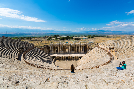 The scenery of Turkey Pamukkale Sheila theatre site Indianapolis
