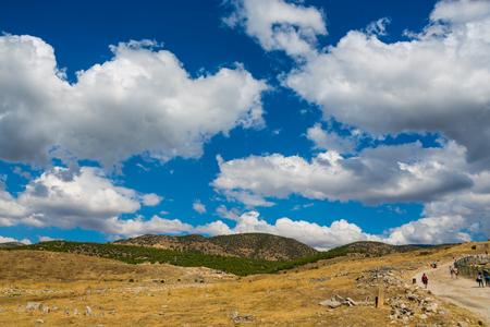 Pamukkale site in Turkey