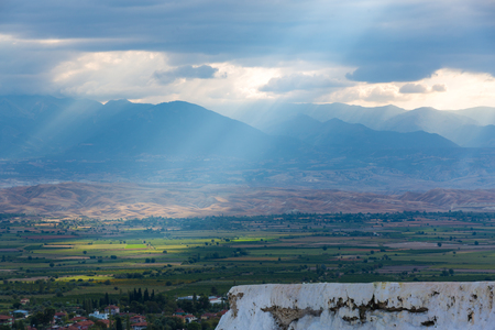 The light of the Pamukkale in Turkey