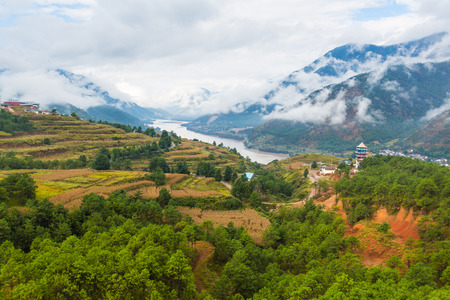 The first bay of the Yangtze River, Lijiang, Yunnan Stock Photo