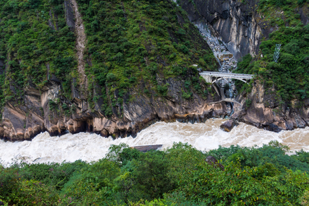 The scenery of Tiger Leaping Gorge in Yunnan, China