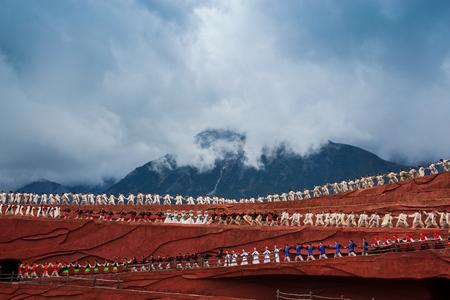 Impressions of Lijiang, Yunnan, China, Jade Dragon Snow Mountain 에디토리얼