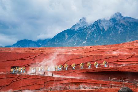 Impressions of Lijiang, Yunnan, China, Jade Dragon Snow Mountain Editoriali