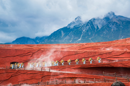 Impressions of Lijiang, Yunnan, China, Jade Dragon Snow Mountain Editorial