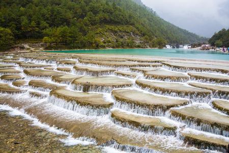 Yunnan China Blue Valley scenery 스톡 콘텐츠