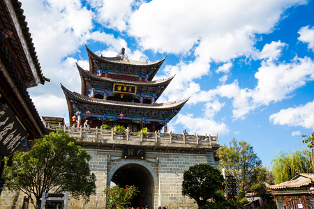 Ancient city tower of Dali