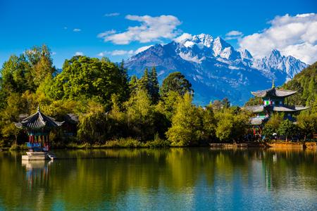 Black dragon Pool, Lijiang, Yunnan, China, Jade Dragon Snow Mountain