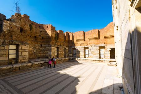 The interior of the Turkey Ephesus Library