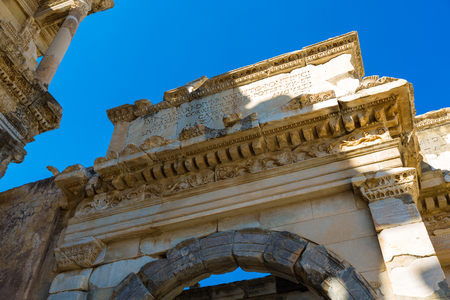 The ancient ruins of Ephesus in Turkey Banco de Imagens - 98811228