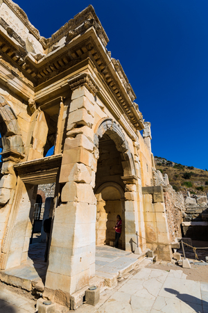 The ancient ruins of Ephesus in Turkey