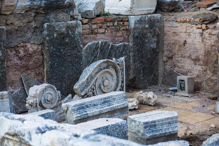 The ruins of Ephesus in Turkey Banco de Imagens
