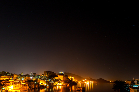 The starry sky in Udaipur, India