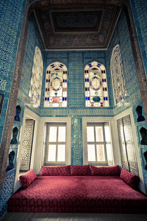 Topkapi Palace reception room, Istanbul, Turkey