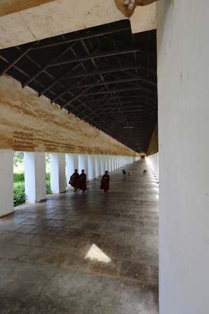 Burma Buddhist Temple Passage Editorial