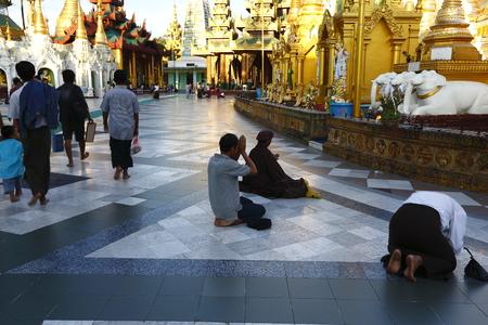Rayong Golden Tower, Yangon, Myanmar Editorial