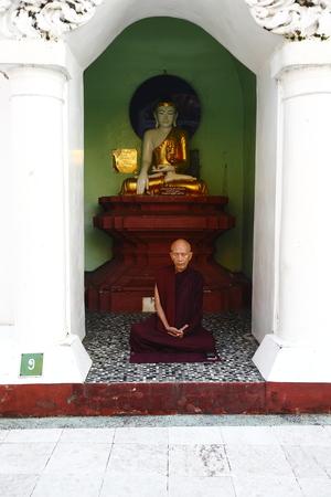 Deaf in the Buddhist temple of Yangon, Yangon, Myanmar