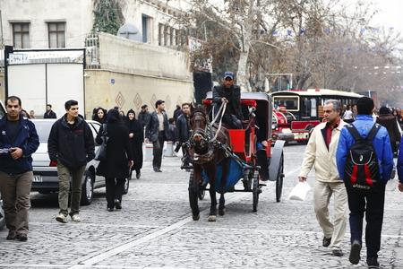 Iranian Tehran traditional carriage Editorial