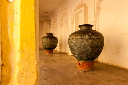 Copper pots in Mehrangarh, Jodhpur, India