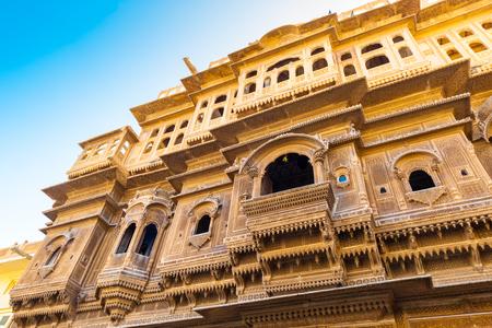 India Jaisalmer Haveli Building Editorial